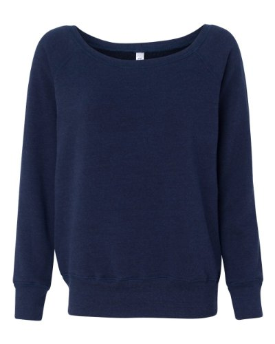 Bella Canvas - Sweat-shirt - Solid - Manches Longues - Opaque - Femme Bleu 2db8d488d74
