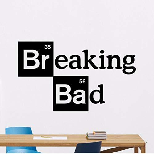 Wandaufkleber Breaking Bad Logo Wandtattoo Filme Kino Vinyl Aufkleber Kunstdekor Removable Home Fenster Dekoration 56x93cm (Stars Kino 6)