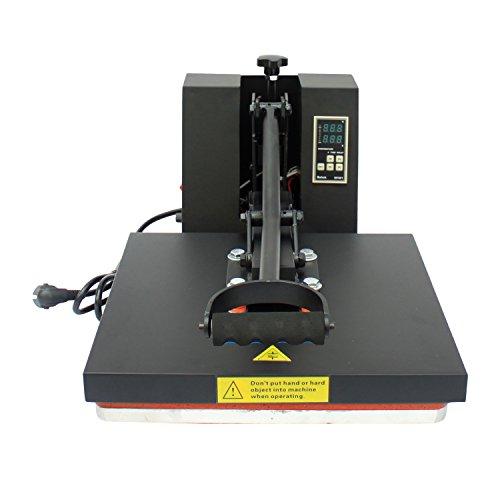 Homcom® Transferpresse Textilpresse T-Shirtpresse Textildruck Schwenkbar 38x38cm - 5