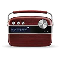 Saregama SC03 Carvaan Hindi Portable Digital Music Player - Cherrywood Red (Pack of 1)