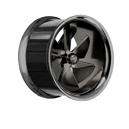 Treuheld Flesh Tunnel - Fan - Turbine - Schwarz 8 mm