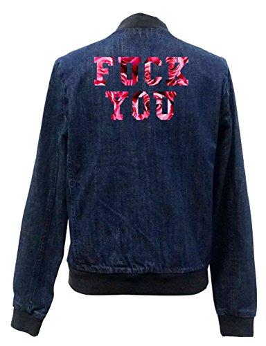 Fuck You Roses Jeans Bomberjacke Certified Freak-L