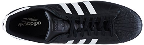 adidas Unisex-Erwachsene Superstar Low-Top Schwarz (Black/White/Black)