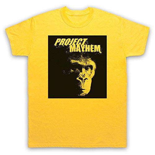 Inspiriert durch Fight Club Project Mayhem Unofficial Herren T-Shirt Gelb