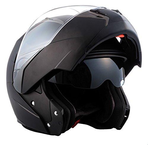 SOXON SF-99 Matt Black · Integrale Moto Modular-Helmet