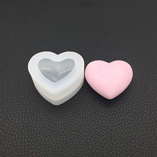 YoungerY Molde de Silicona Espejo en Forma de corazón 3D artesanías Lisas...