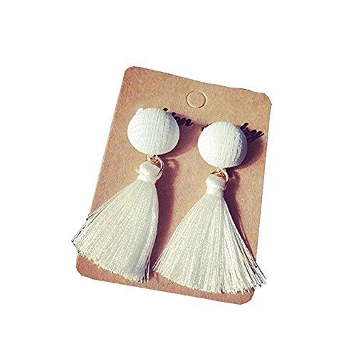 Fletion Frauen Ohrringe Modeschmuck Vintage Quaste Ohrringe Ohrhänger Ohrschmuck Schwarz (Das Modeschmuck Vintage Tragen Von)