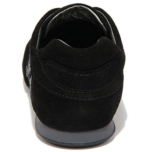 63431 sneaker donna nera HOGAN OLYMPIA H FLOCK scarpa women Nero