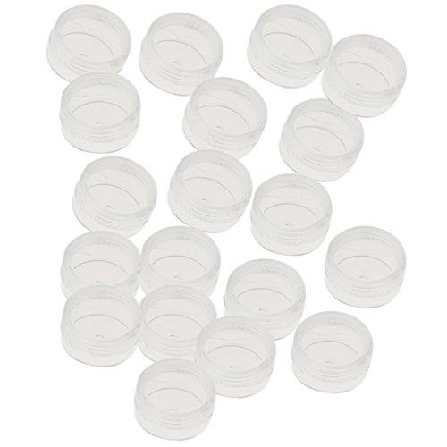 Lippenbalsam-kits (SM SunniMix 20 Stück Dosen Leere mit Deckel Transparente Kosmetikbehälter Plastik Pot für Creme,lippenbalsam und Lotion - Zufällig, 5 g Rundboden)