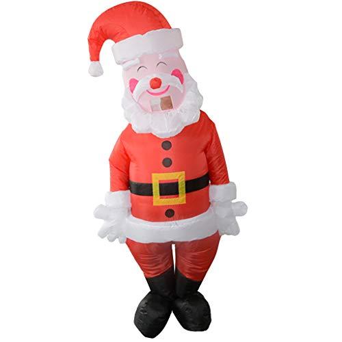 Aufblasbarer Kostüm Weihnachtsmann - Luccase Aufblasbare Weihnachtsmann Spielzeug Polyester Aufblasbare Party Karneval Lustige Kostüme Weihnachtsmann Schneemann Rollenspiel für Erwachsene