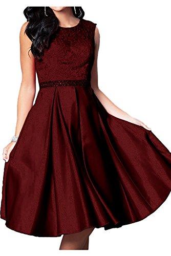 Ivydressing - Robe - Trapèze - Femme rouge bordeaux