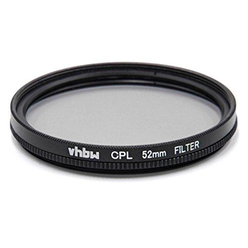 vhbw Universal CPL-Pol-Filter 52mm für Kamera Canon Casio Pentax Olympus Panasonic Sony Nikon Ricoh Sigma Tamron Samsung Fujifilm Agfa Minolta Kodak. (Pol-filter 52mm Nikon)