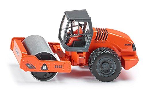 SIKU 3530, Hamm 3625 rouleau monocylindre, 1:50, Métal/Plastique, Orange, Rouleau rotatif