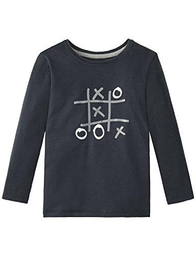 Schiesser Jungen Schlafanzugoberteil Mix & Relax Shirt 1/1 Unisex, Grau (Graphit 207), 116