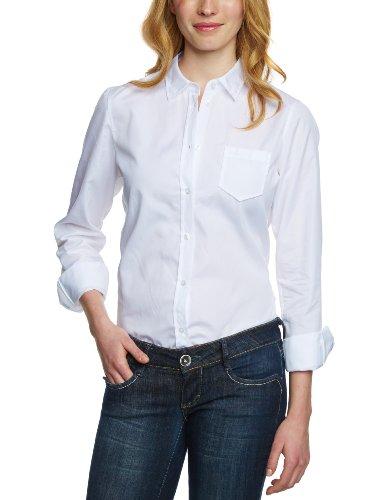 Marc O'Polo Damen Bluse B01124142389, Gr. 44, Weiß (100 White) -