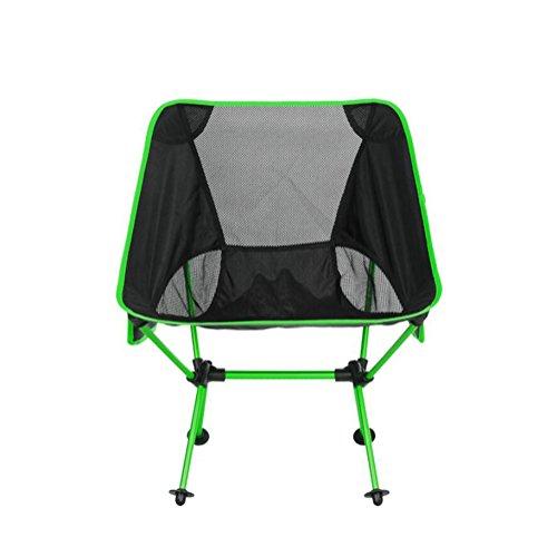 YAN Klappstuhl im Freien Luxus faltender kampierender Stuhl gepolsterter Sitz im Freien mit Taschen für das Wandern/Reise/Jagd/Fischen (Farbe : 3)