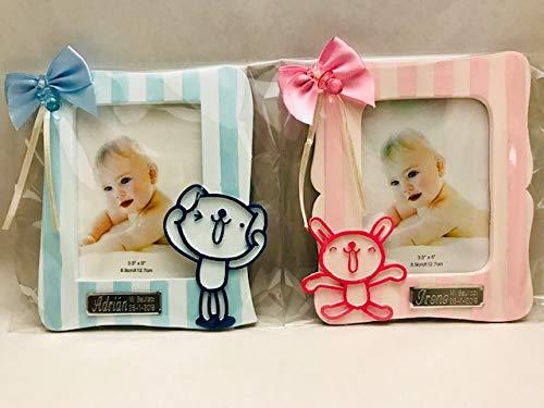 Marcos fotos para bautizo niña o niño GRABADOS PERSONALIZADOS regalos invitados (pack 10 unidades) portafotos
