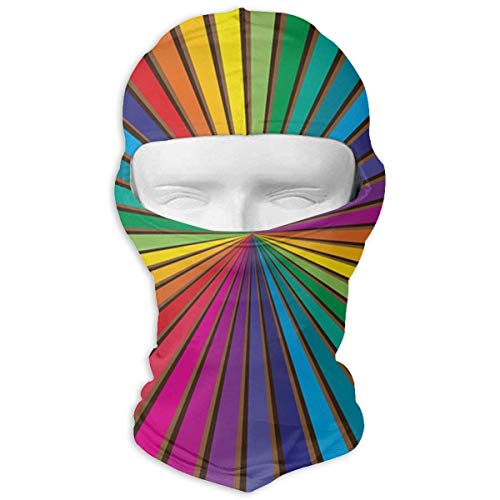 Wdskbg Ski Mask Colored Sunburst Sun UV Protection Dust Protection Wind-Resistant Face Mask for Running Cycling Fishing Unisex7 -