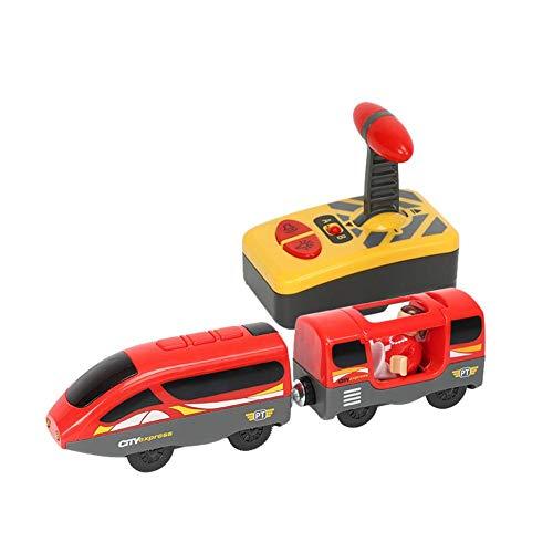 Knowled Treno con Telecomando, Treno Elettrico, Giocattolo per Bambini, Giocattolo Elettrico Magnetico, Locomotiva per Thomas in Legno, Regalo di Compleanno per Bambini C