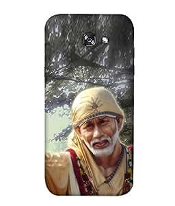 FUSON Designer Back Case Cover for Samsung Galaxy A5 2017 (Shirdi Wale Sai Baba Sainath God Shradha Saburi Pooja)