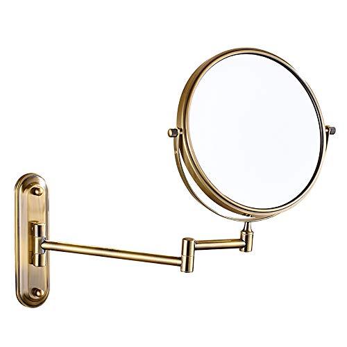 Espejo para afeitarse, Espejos de pared, Cuarto de baño de cobre, espejo de maquillaje con aumento...
