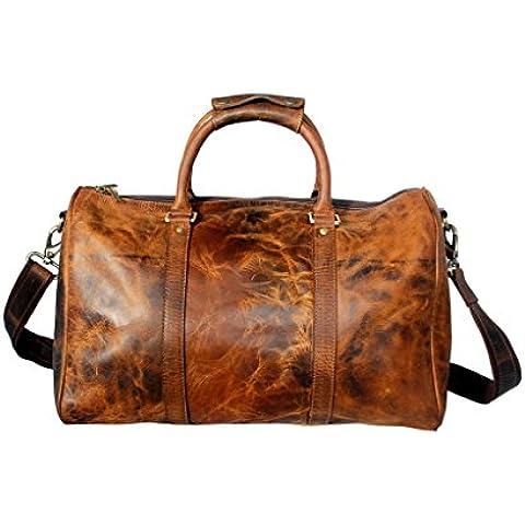 Viajes tela de lana basta del cuero genuino del bolso el 100 % de embarque bolsa de equipaje bolsa de ropa seguir adelante