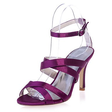 RTRY Scarpe Donna Satin Stiletto Heel Punta Aperta Sandali Matrimoni/Parte &Amp; Sera Scarpe Più Colori Disponibili US6 / EU36 / UK4 / CN36