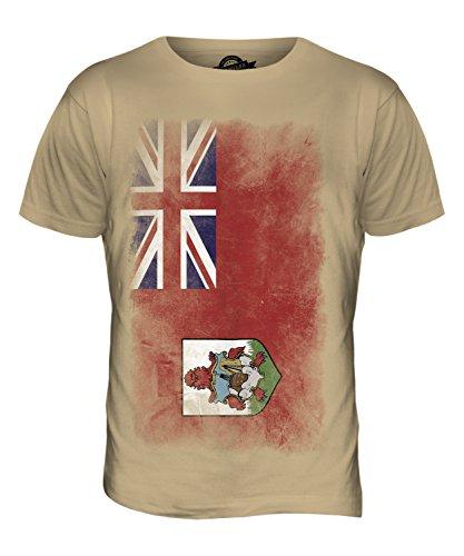 CandyMix Bermuda Verblichen Flagge Herren T Shirt Sand