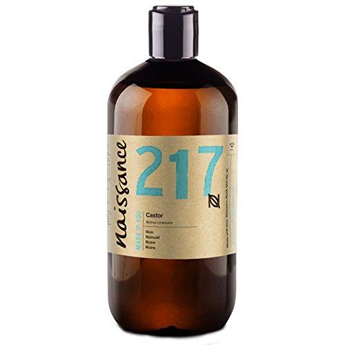 Naissance Aceite de Ricino 500ml - Puro, natural, vegano, sin hexano, no OGM - Hidrata y nutre el cabello, las cejas y las pestañas