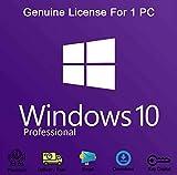 Windows 10 Professional 32 Bits y 64 Bits, Producto Claves de licencia, OEM, Garantía de activación del 100% [Entrega rápida por correo electrónico y posta]