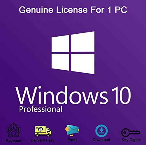 Windows 10 Professional 32/64 Bit | Chiavi di licenza per l'Italia, supporto per la reinstallazione di Windows | Garanzia di attivazione al 100% [consegna veloce via e-mail]
