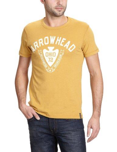 JACK & JONES VINTAGE Herren T-Shirt Slim Fit 12061001 CHEROKEE TEE Gelb (HONEY MUSTARD)
