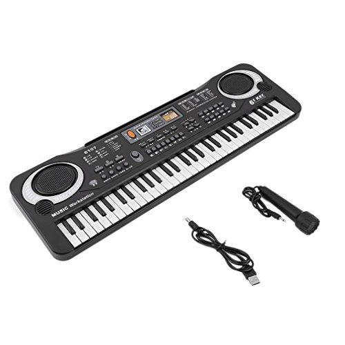 Yililay 61 Tasten Digitale Musik Elektronische Tastaturen Rat Spielzeug Geschenk elektrisches Klavier, Keyboard
