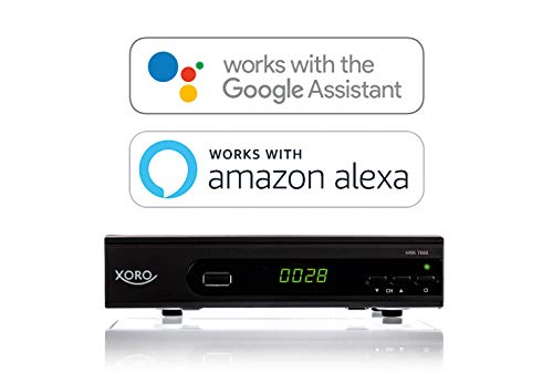 Xoro HRK 7660 SMART DVB-C HD Receiver (Alexa, Google Home, LAN, HDMI, USB 2.0, PVR) Black
