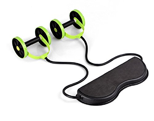 Vicloon Doppia ruota di allenamento addominale, formidabile attrezzo per il dimagrimento di pancia e fianchi, attrezzi fitness per addominali e pettorali ideali in palestra o a casa