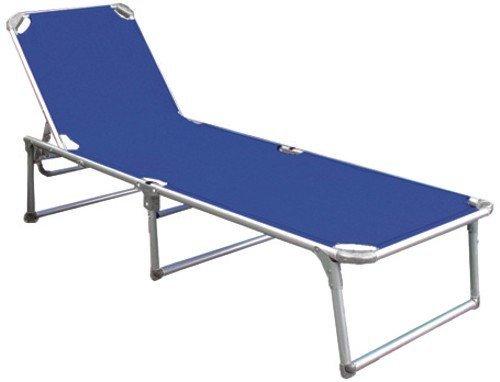 Thera-Papillon Chaise Pliante Aluminium Lit Double Bleu
