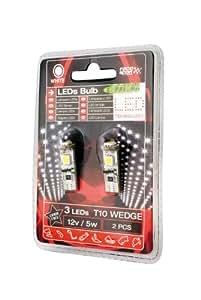 Sumex LIT0505 Ampoules LED T10 SMD 12V 5W (2 Pièces)