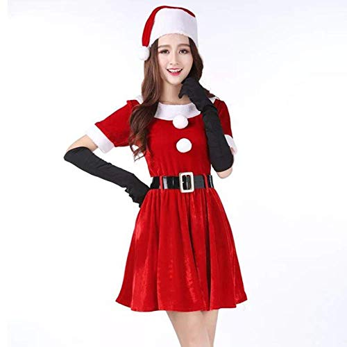 L@LILI Christmas Adult Costumes, Fat Flocking Cosplay Suit, Dense Velvet Material, Women ' S Clothing ()