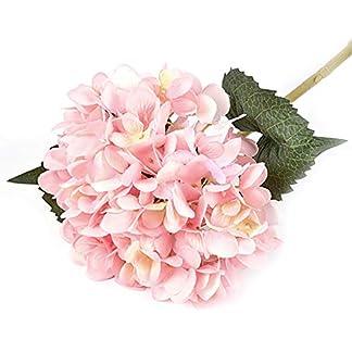 Artificial de Flores de Hortensia Grandes Cabezas de Seda Ramo montón Fiesta de la Boda Decoración para el Hogar (Rosa) Muy Durable de Obras de Arte