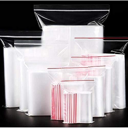 Bolsa Fresca 100PcsBolsa Ziplock Reutilizable Bolsa De Envasado De Alimentos Food @ Clear_Plastic_Bag_20X30_Plastic_Bag_100Pcs_Ziplock_Bag