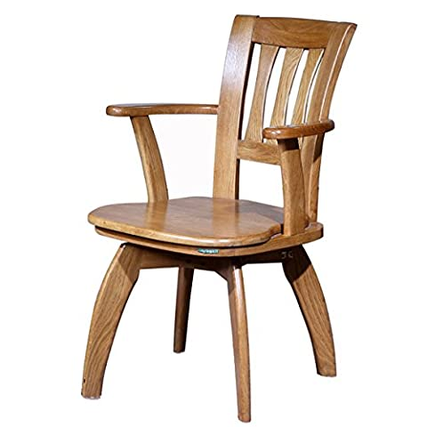 WMAOT Solid Wood Rocking Chairs Computer Chair Swivel Office