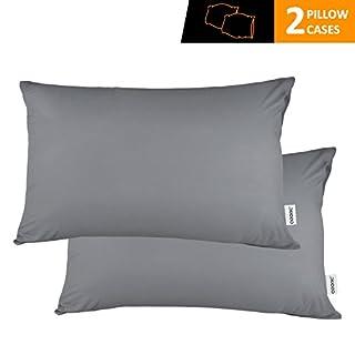 Kissenbezug kissenhülle Kopfkissenbezug Bettkissenbezug Pillowcase, Adoric Life [2er Set] Kissenbezug 100% Mikrofaser, 50 cm x75 cm.(Grau)