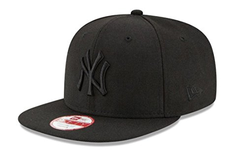 New Era Unisex Cap MLB 9fifty NY Yankees, Schwarz/Schwarz, S/M, 11180834