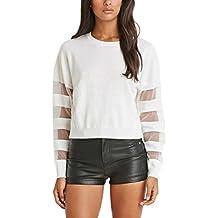 Minetom Verano Moda Camiseta Para Mujer Blusa Tops Sweater Estilo De Béisbol Suéter Fino De Punto Manga Larga Que Se Avecina Suéter T Shirts
