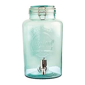 39 distributeur de boisson original 5 l blue aspect verre vintage distributeur d 39 eau. Black Bedroom Furniture Sets. Home Design Ideas