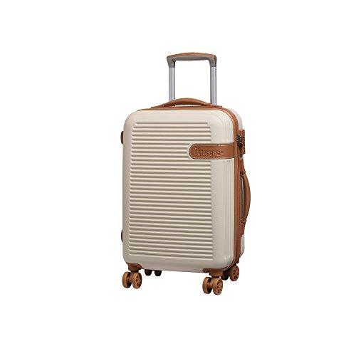 it luggage Valiant 8 Wheel Hard Shell Single Expander Suitcase Cabin with TSA lock Koffer, 56 cm, 47 liters, Elfenbein (Cream)