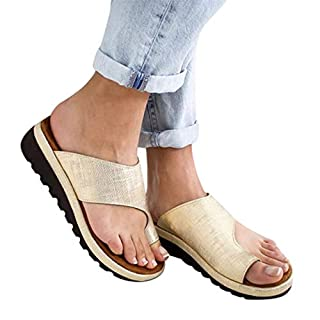 Womens Low Heeled Wedges, Clip Toe Slip-On Sandalen, PU Leder Sommer Strand Schuhe Slipper Flip-Flop für Damen Damen Plus Größe