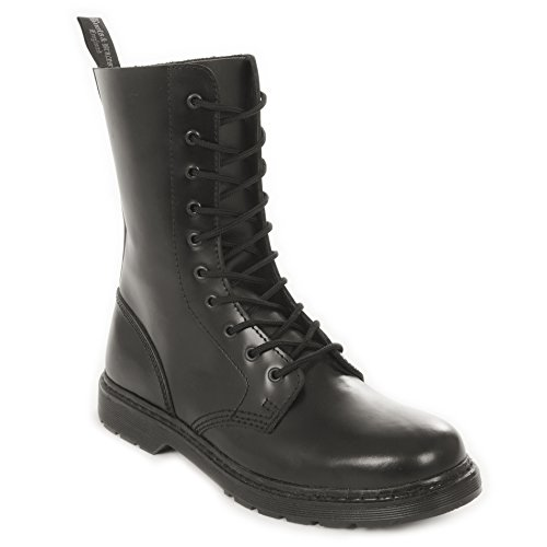 Boots & Braces–Easy 10trous Monochrome Black On Black Bottes rangers Noir Noir - Black On Black