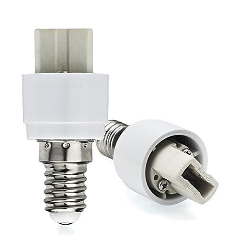AWE-LIGHT 6X E14 vers G9 Ampoule LED Douille Convertisseur Adaptateur E14 a G9