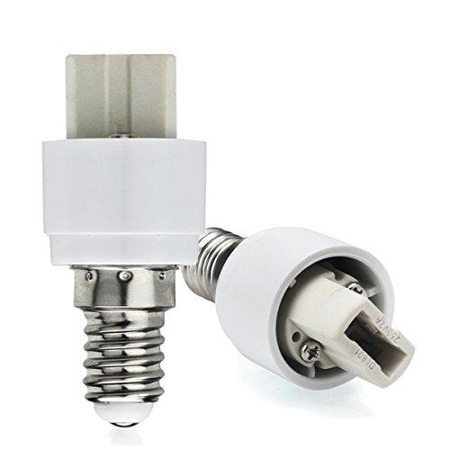 AWE-LIGHT E14 a G9 Estendere Base LED CFL Lampadina Dell'adattatore Della Lampada Convertitore Vite Presa - Confezione da 6